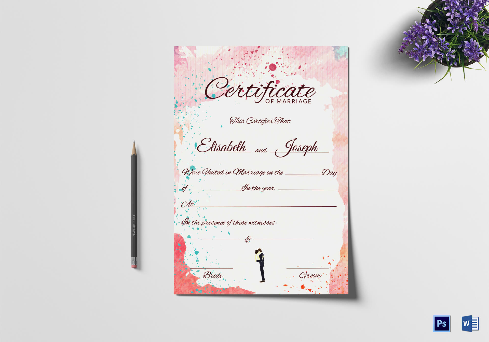 Christian Marriage Certificate Template intended for Certificate Of Marriage Template