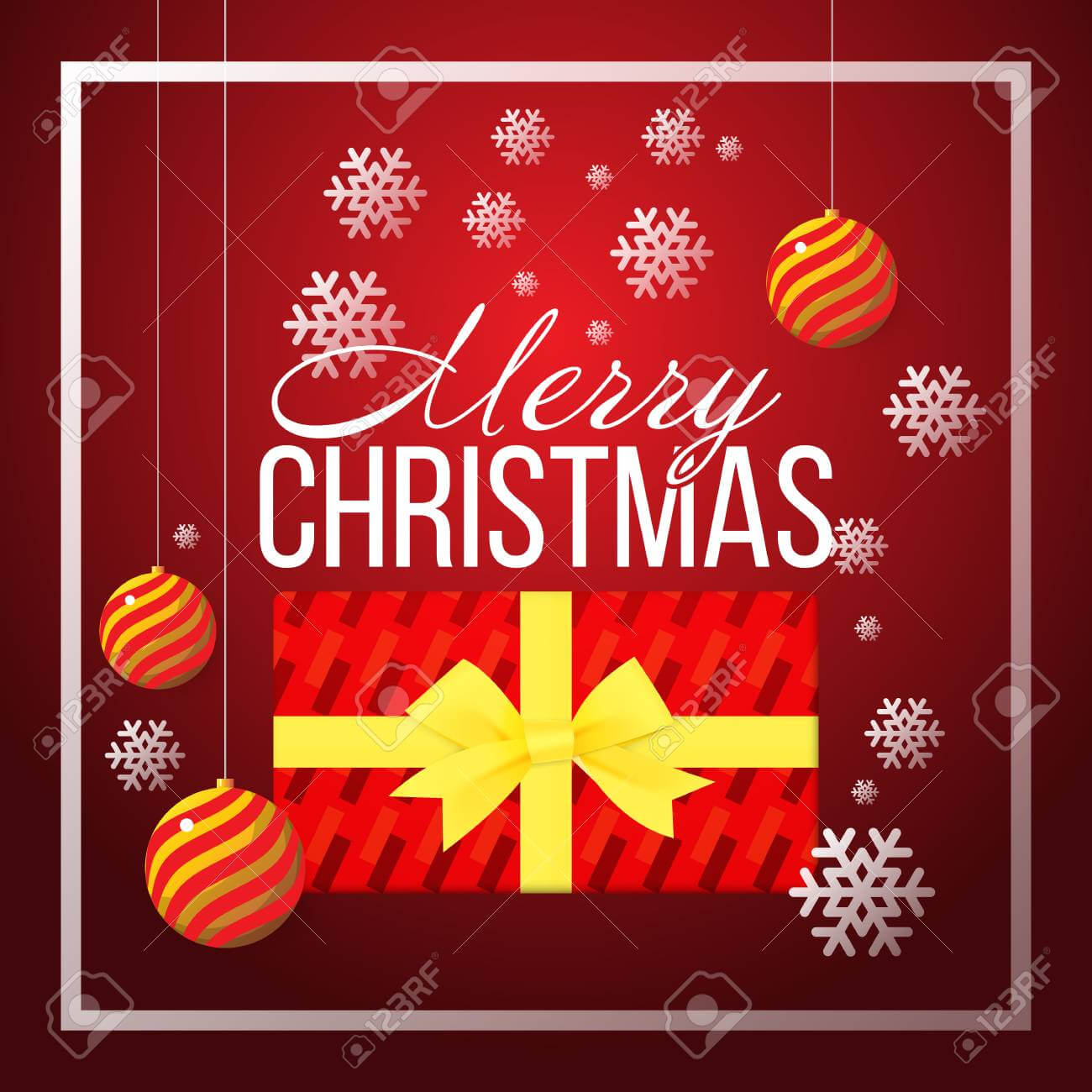 Christmas Banner Template Background With Merry Christmas Greeting.. intended for Merry Christmas Banner Template