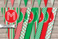 Christmas Banner Template – Red & Green with Merry Christmas Banner Template