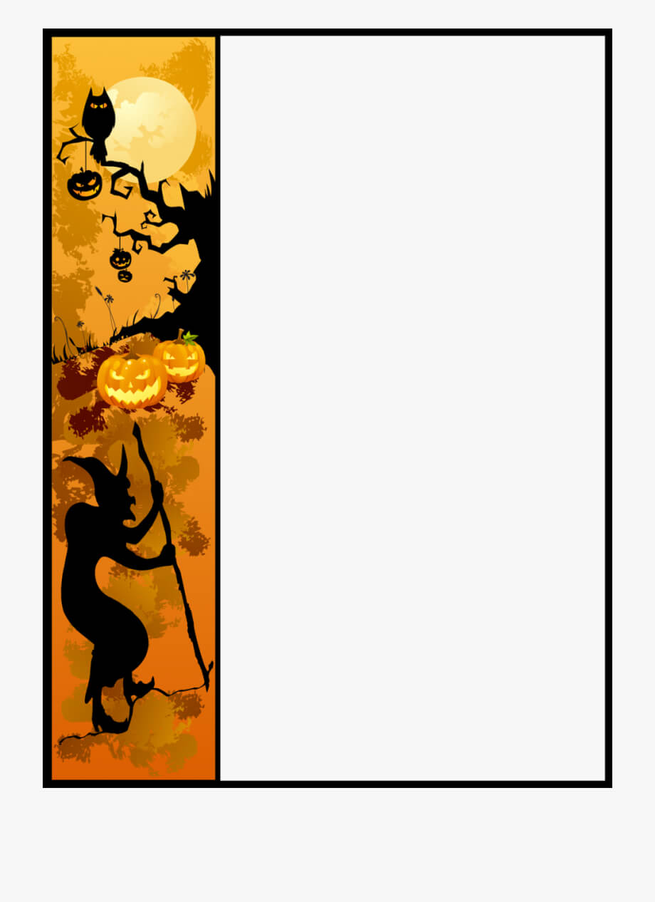 Christmas Border Word Template Free For Picture Borders regarding Free Halloween Templates For Word
