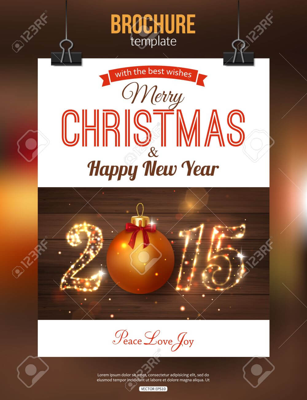 Christmas Brochure Template. Abstract Typographical Flyer Design.. pertaining to Christmas Brochure Templates Free