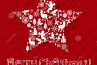 Christmas Card Design Stock Vector. Illustration Of Event inside Adobe Illustrator Christmas Card Template