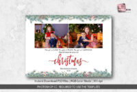 Christmas Card Template For Photographers with Holiday Card Templates For Photographers