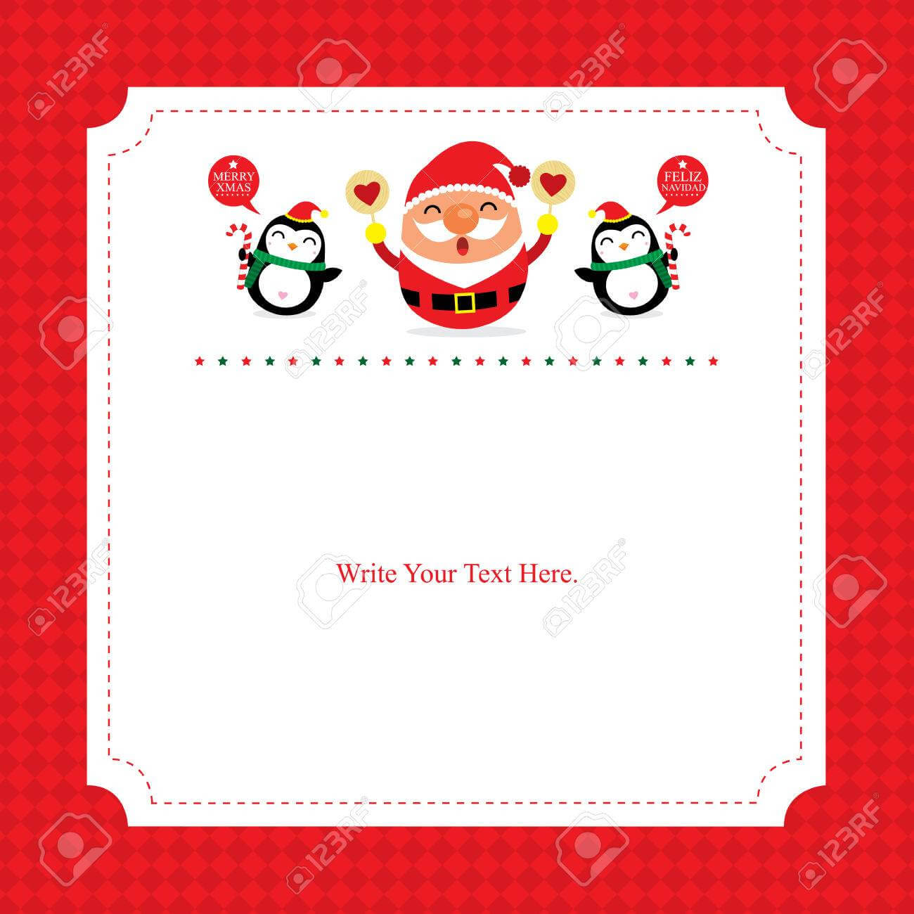Christmas Card Template Santa Claus pertaining to Happy Holidays Card Template