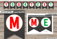 Christmas Chalkboard Banner Template – Red & Green throughout Merry Christmas Banner Template