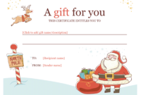Christmas Gift Certificate – Download A Free Personalized in Free Christmas Gift Certificate Templates