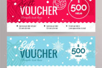 Christmas Gift Voucher Coupon Discount. Gift Certificate Template.. throughout Merry Christmas Gift Certificate Templates