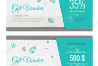 Christmas Gift Voucher Coupon Discount. Gift Certificate Template.. with regard to Merry Christmas Gift Certificate Templates