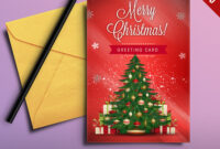 Christmas Greeting Card Free Psd | Psdfreebies pertaining to Free Christmas Card Templates For Photoshop