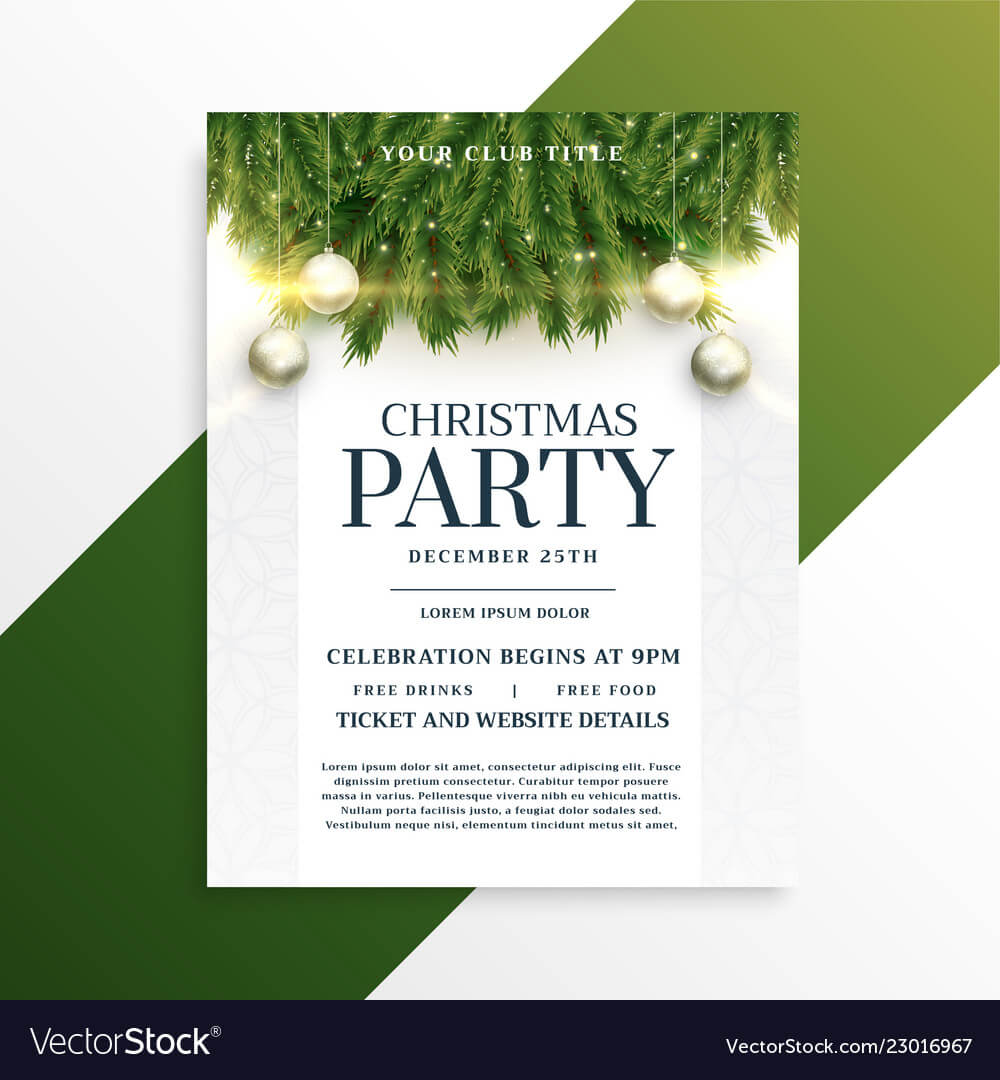 Christmas Holiday Party Flyer Design Template throughout Christmas Brochure Templates Free