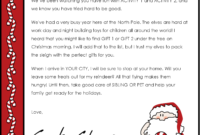 Christmas Letter Borders And Templates Letter Templates with Letter From Santa Template Word