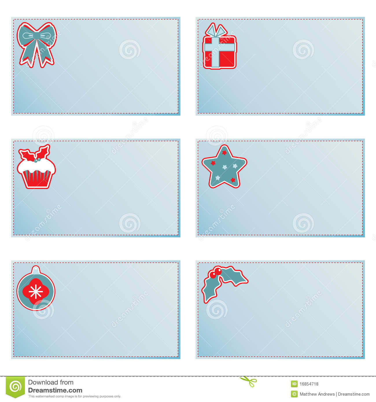 Christmas Note Cards Stock Vector. Illustration Of For Christmas Note Card Templates