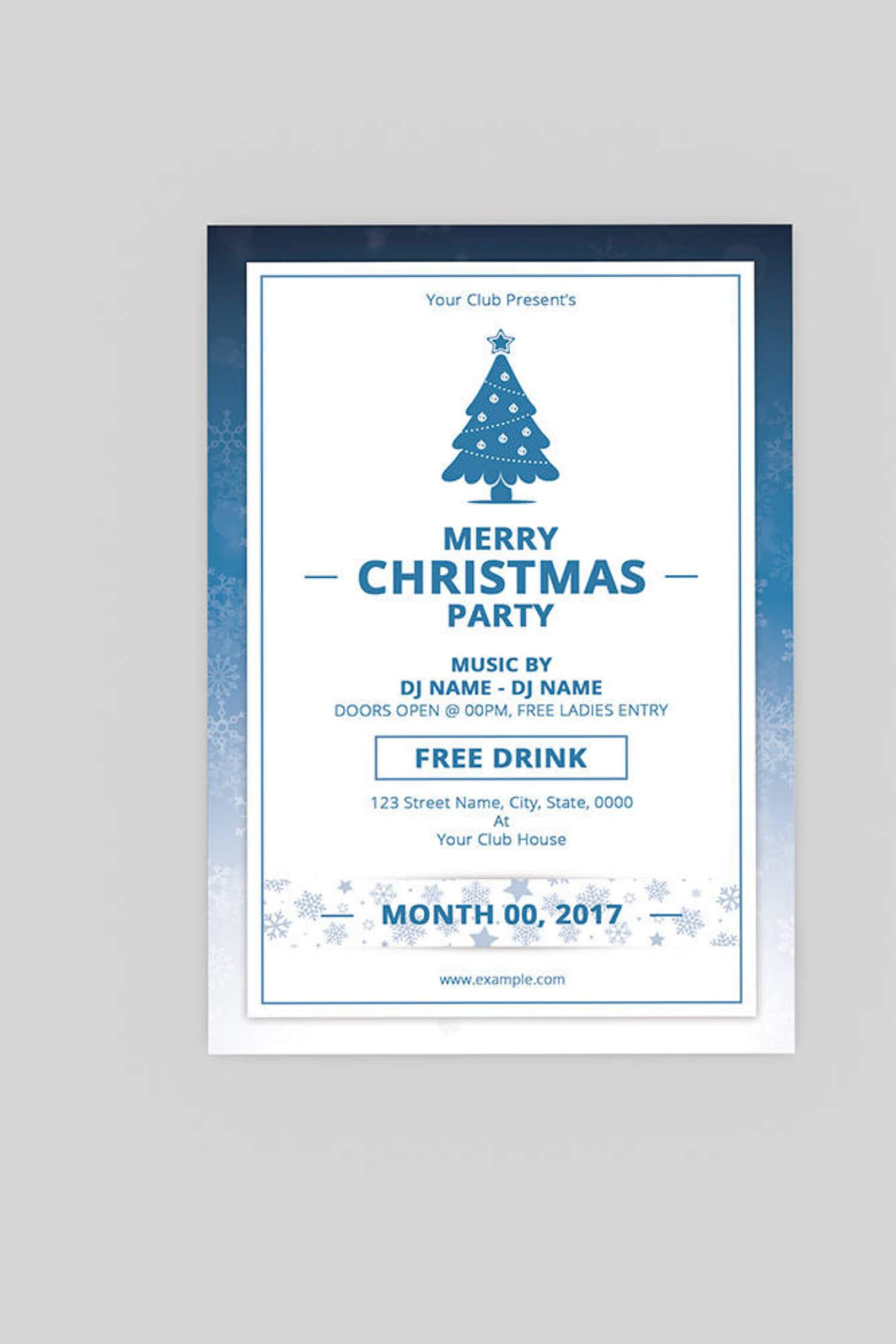 Christmas Party Flyer – Size: 4X6 In – Working File Pertaining To Microsoft Word 4X6 Postcard Template