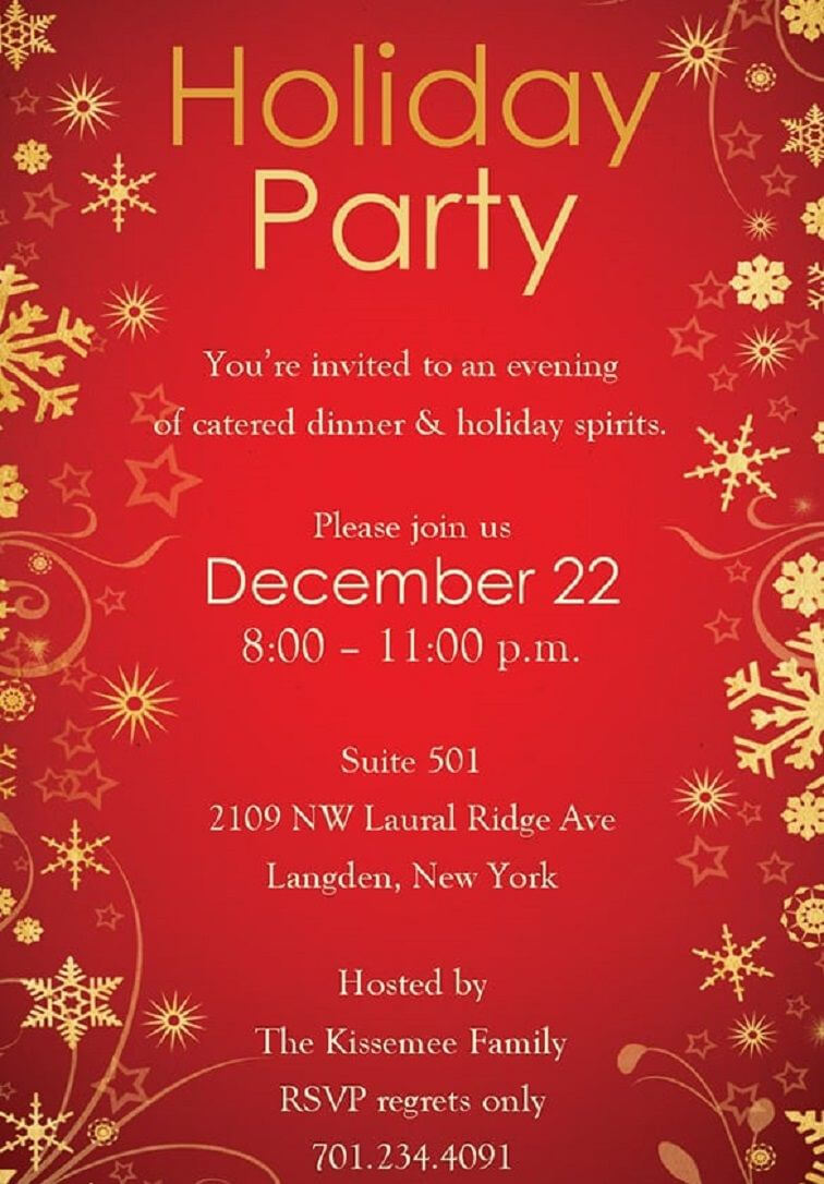 Christmas Party Invitation Backgrounds Free In 2019 Regarding Free Dinner Invitation Templates For Word