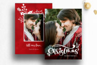 Christmas Photo Card Template Photoshop  013 with Christmas Photo Card Templates Photoshop
