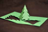 Christmas Pop Up Card: Simple Pyramid Tree Tutorial inside Pop Up Tree Card Template