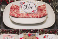 Christmas Table Place Cards { Free Printable} – Six Clever in Christmas Table Place Cards Template