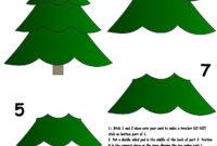 Christmas Tree   Christmas Tree Template, Xmas Crafts for 3D Christmas Tree Card Template
