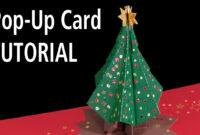 Christmas Tree Pop-Up Card Tutorial inside 3D Christmas Tree Card Template
