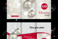 Christmas Trifold Brochure Template. Abstract Flyer Design With.. intended for Christmas Brochure Templates Free