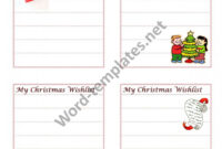 Christmas Wish List Archives – Free Ms Word Templates inside Christmas Card List Template