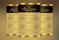 Church Anniversary One Sheet Program Template On Behance with regard to Church Program Templates Word