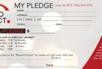 Church Pledge Form Template Hausn3Uc | Church Fundraisers throughout Building Fund Pledge Card Template