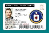 Cia Id Card Badge Prop Liam Neeson In 2019 | Central Inside Mi6 Id Card Template