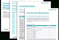 Cip-010 R3 Vulnerability Assessment And Patch Management throughout Reliability Report Template