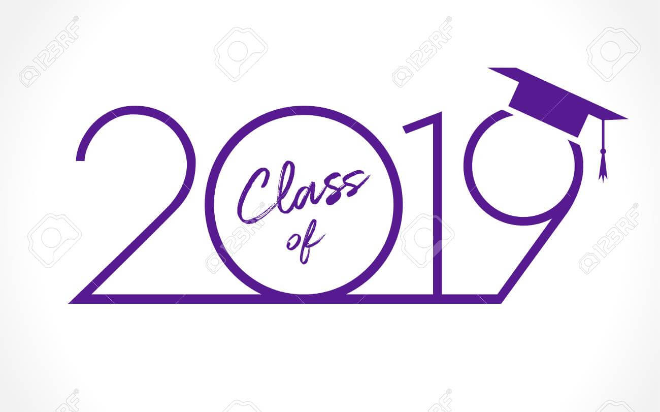Class Of 20 19 Year Graduation Banner, Awards Concept. T Shirt.. Intended For Graduation Banner Template