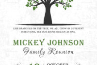 Classic Family Reunion Invitation Template for Reunion Invitation Card Templates