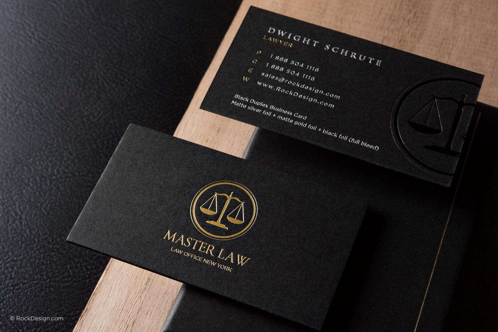 Classic Modern Black Duplex Attorney Business Card Template Throughout Lawyer Business Cards Templates