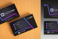 Clean And Simple Business Card Template within Buisness Card Templates