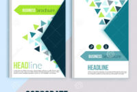 Clean Brochure Design, Annual Report, Cover Template Inside Annual Report Template Word Free Download