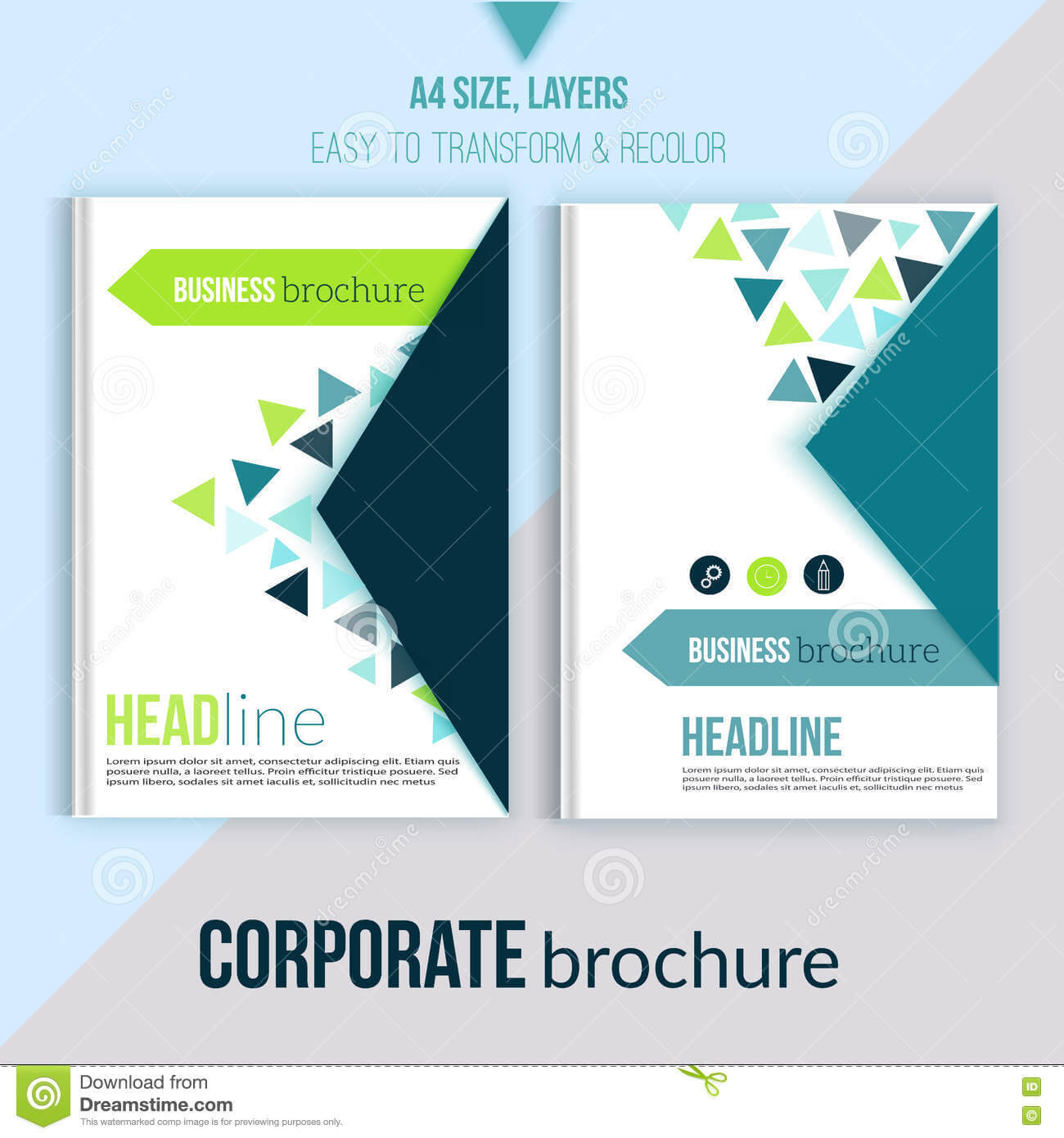 Clean Brochure Design, Annual Report, Cover Template Inside Annual Report Template Word Free Download