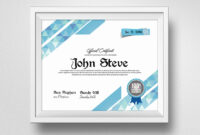 Clean Certificate Template – Vsual with Indesign Certificate Template