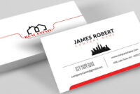 Clean Illustrator Business Card Design With Free Template Download throughout Visiting Card Templates Download