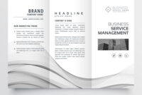 Clean Minimal Trifold Brochure Template Layout within Cleaning Brochure Templates Free