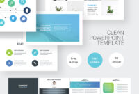 Clean Simple Powerpoint Template pertaining to Powerpoint Default Template