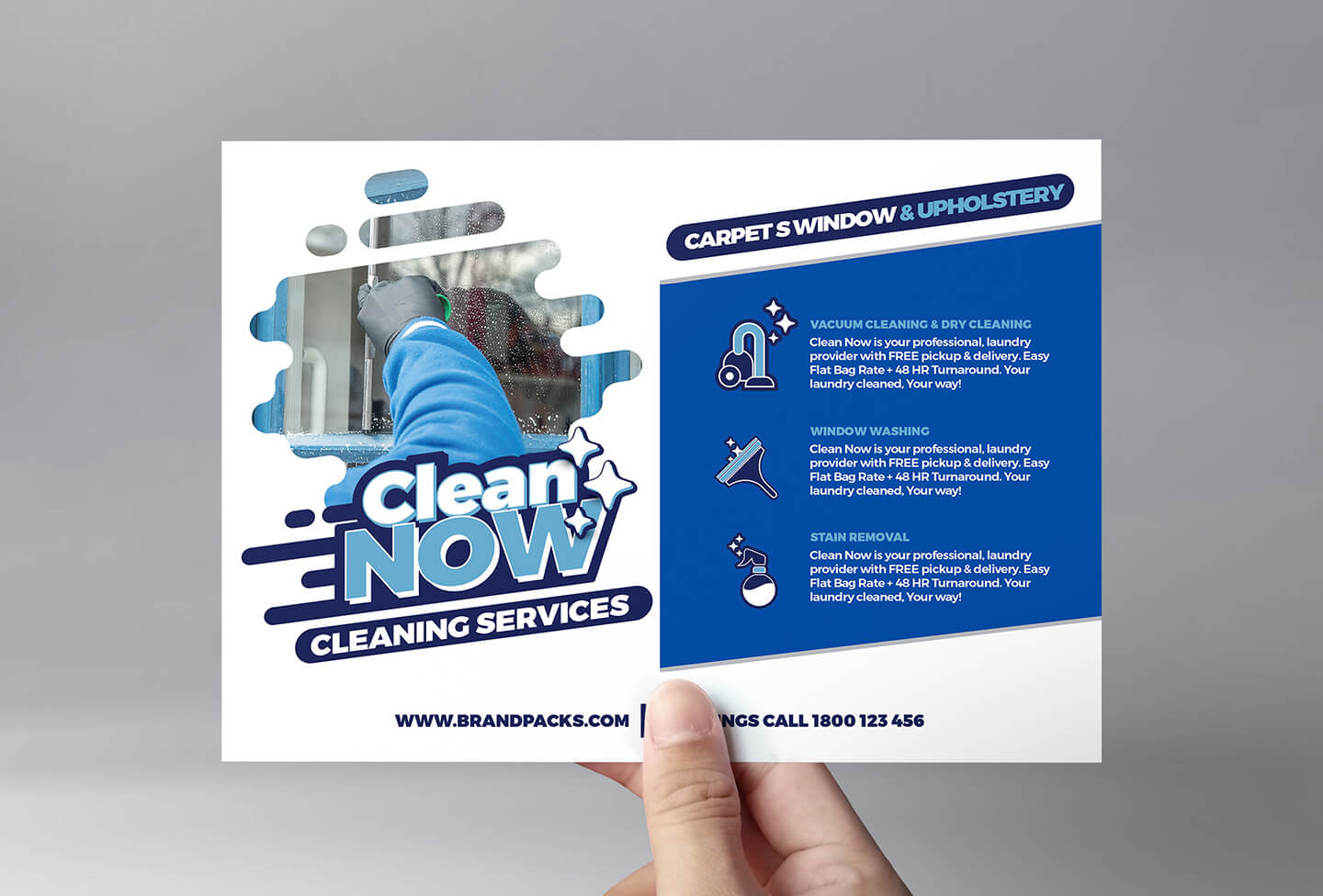 Cleaning Service Flyer Template In Psd, Ai & Vector – Brandpacks Intended For Commercial Cleaning Brochure Templates