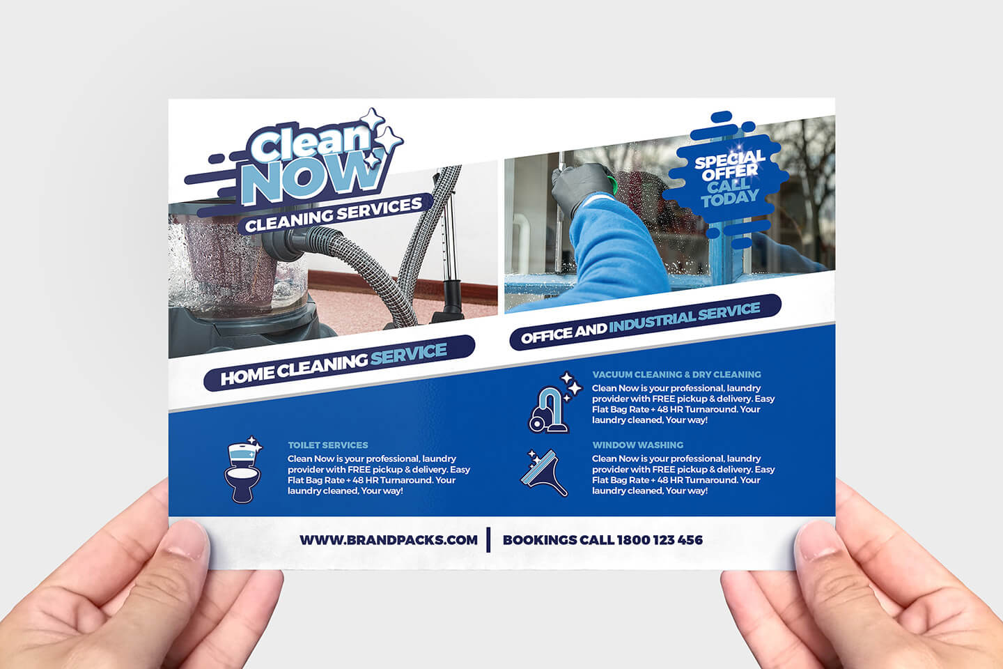 Cleaning Service Flyer Template In Psd, Ai & Vector – Brandpacks With Commercial Cleaning Brochure Templates