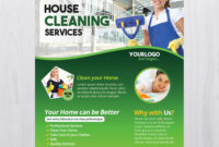 Cleaning Services – Download Free Psd Flyer Template – Free regarding Cleaning Brochure Templates Free
