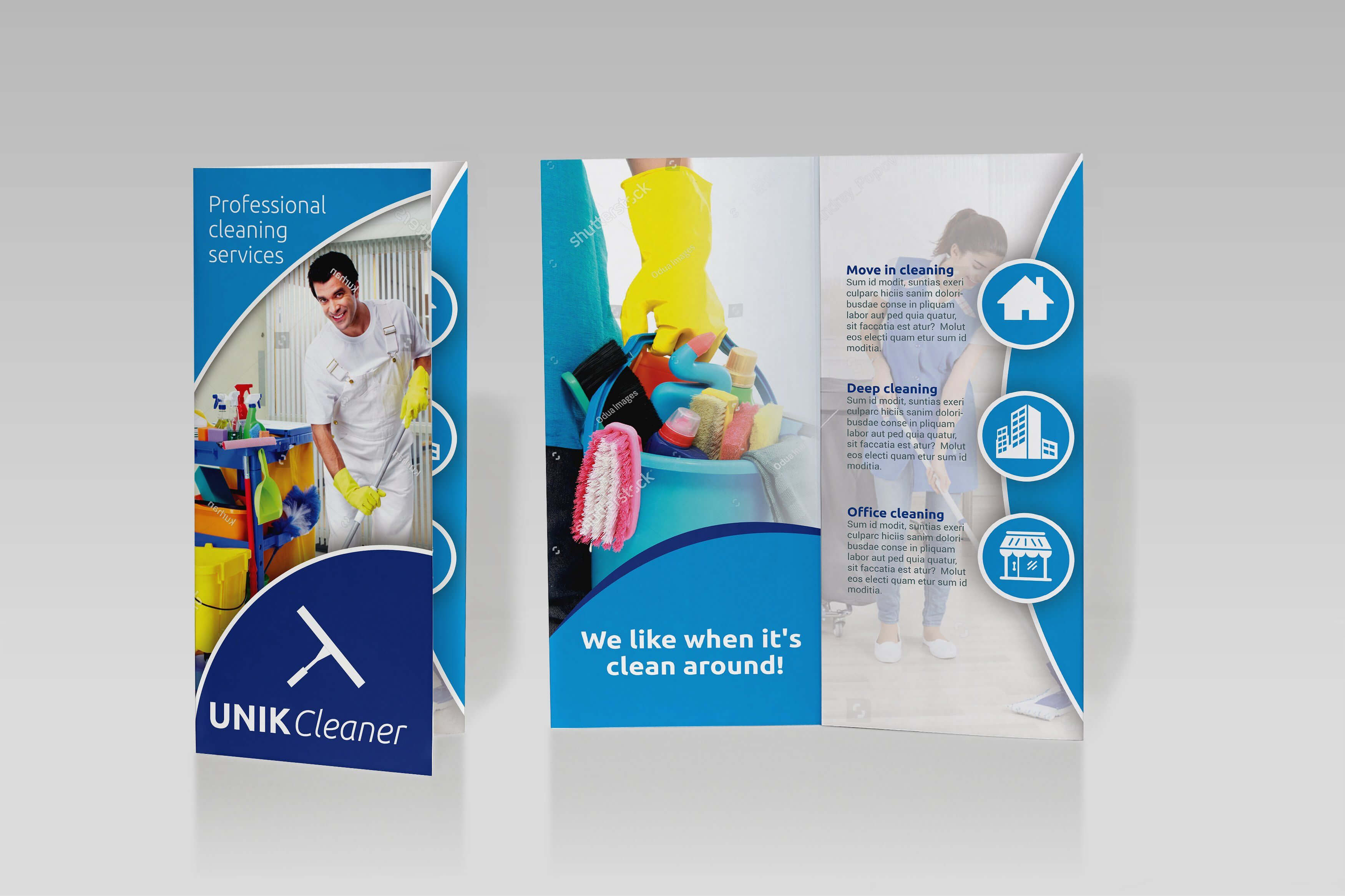 Cleaning Tri Fold Brochure – Sk #click#object#type#edited Within Commercial Cleaning Brochure Templates