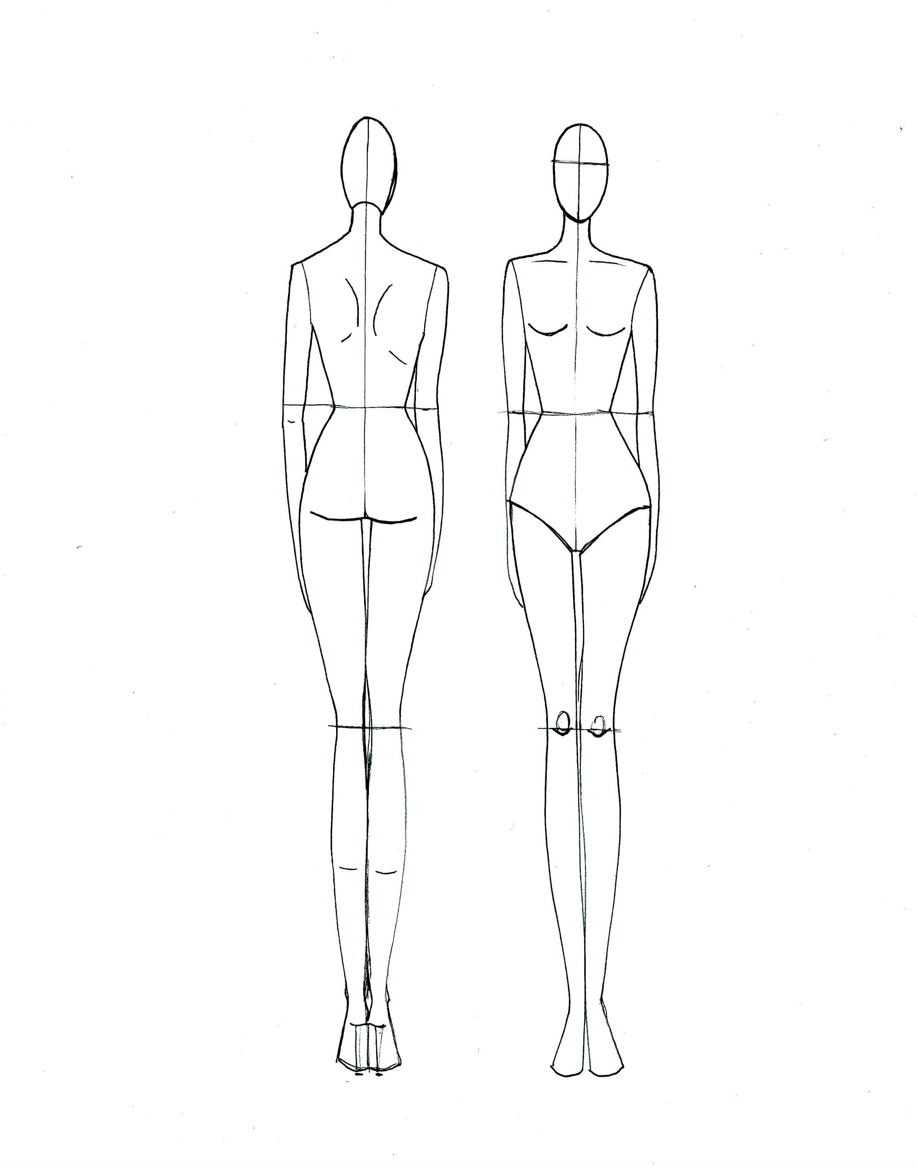 Clothing Model Sketch At Paintingvalley   Explore intended for Blank Model Sketch Template