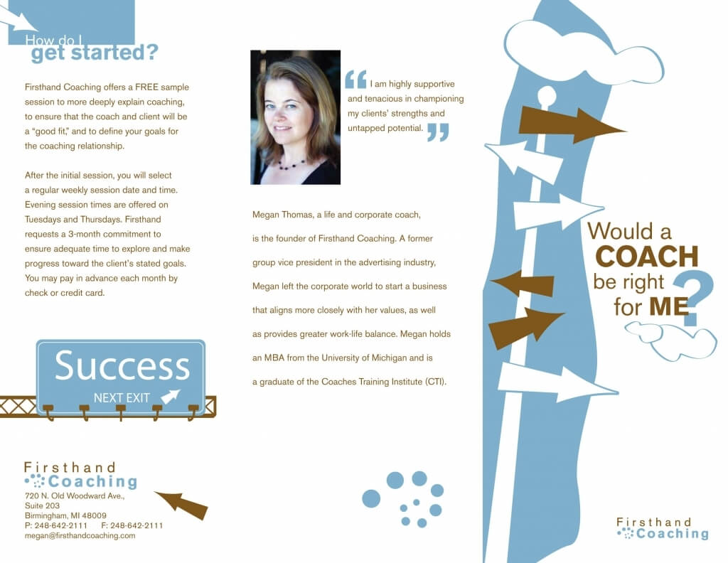 Coaching Brochure Template | Free Download Template Design With Regard To Training Brochure Template