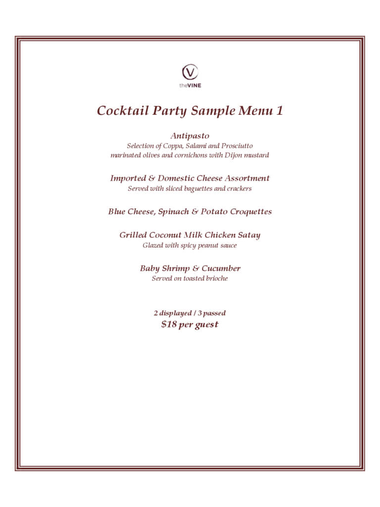 Cocktail Menu Template - 2 Free Templates In Pdf, Word regarding Cocktail Menu Template Word Free