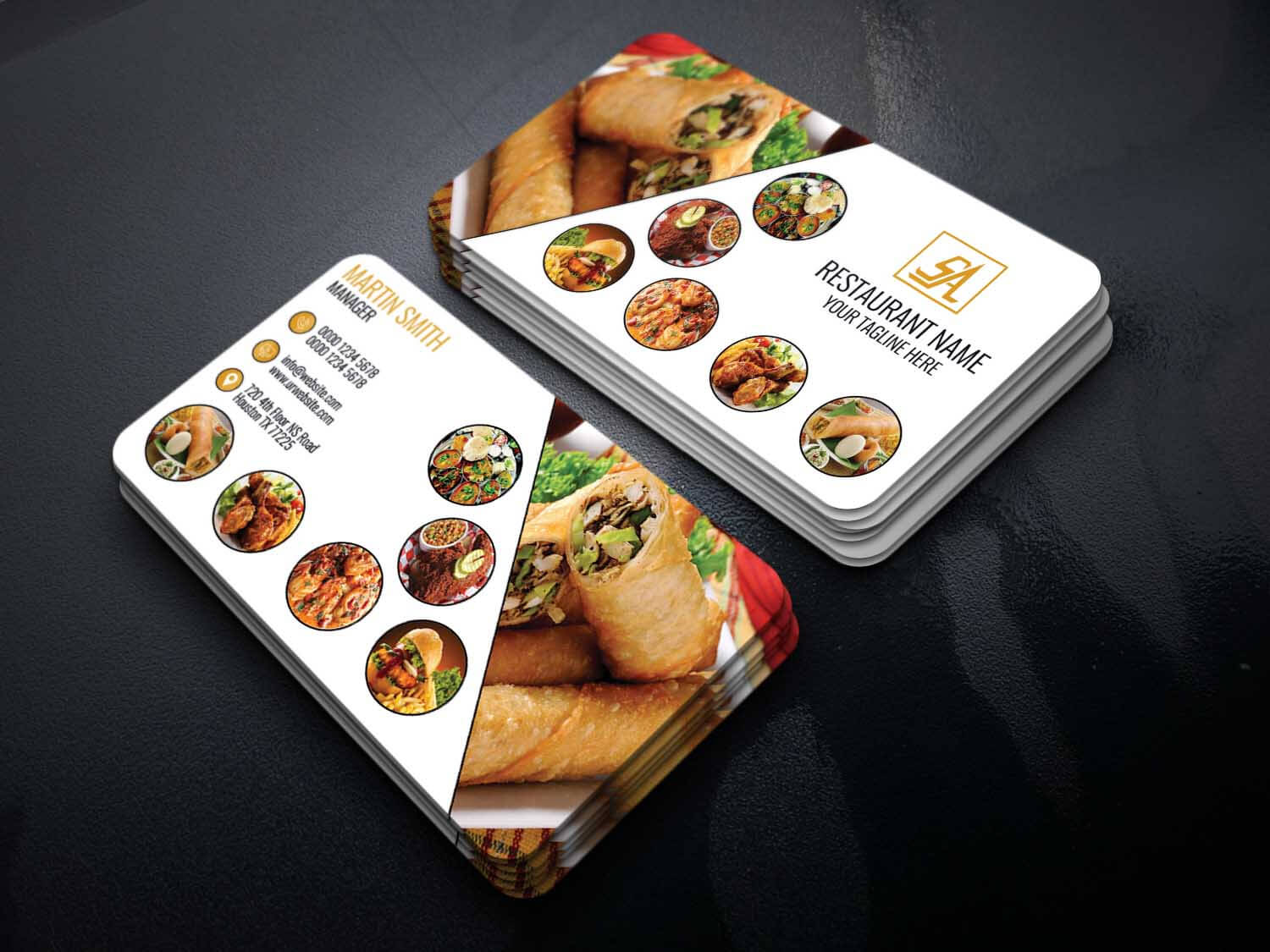 Code Graphic – Print, Icons, Fonts, Mockups Template With Regard To Restaurant Business Cards Templates Free