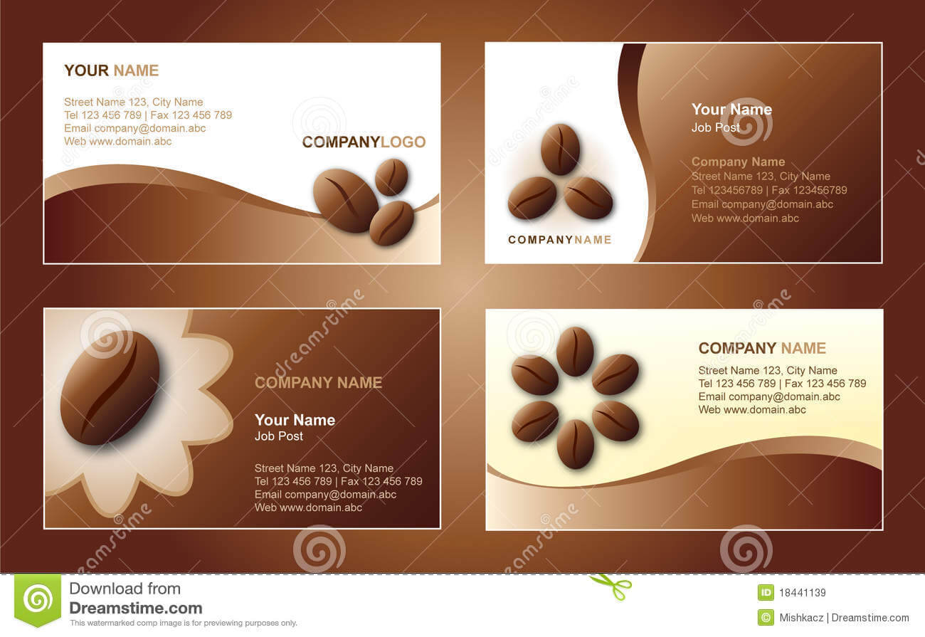 Coffee Business Card Template Stock Vector - Illustration Of for Coffee Business Card Template Free