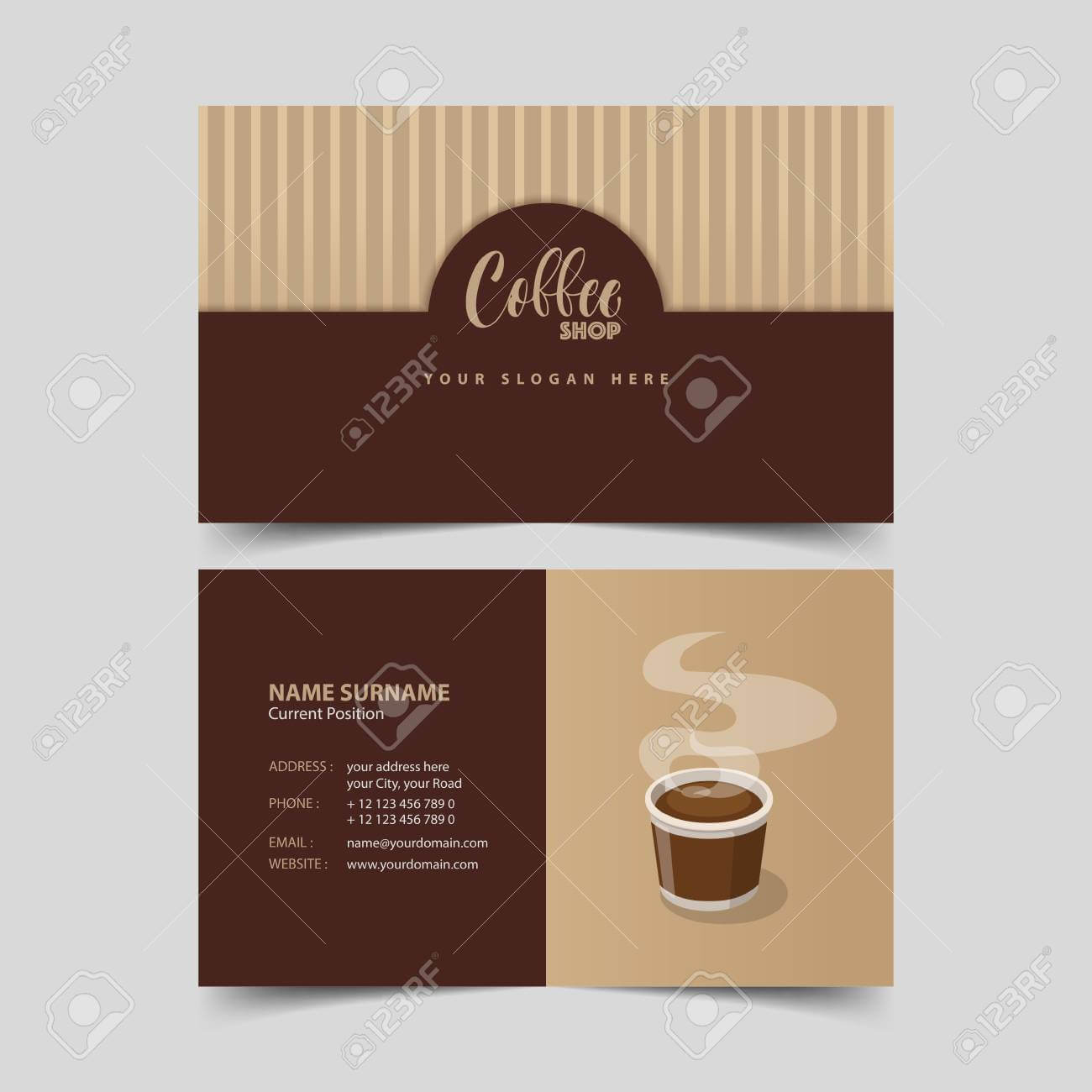 Coffee Shop Business Card Design Template. inside Coffee Business Card Template Free