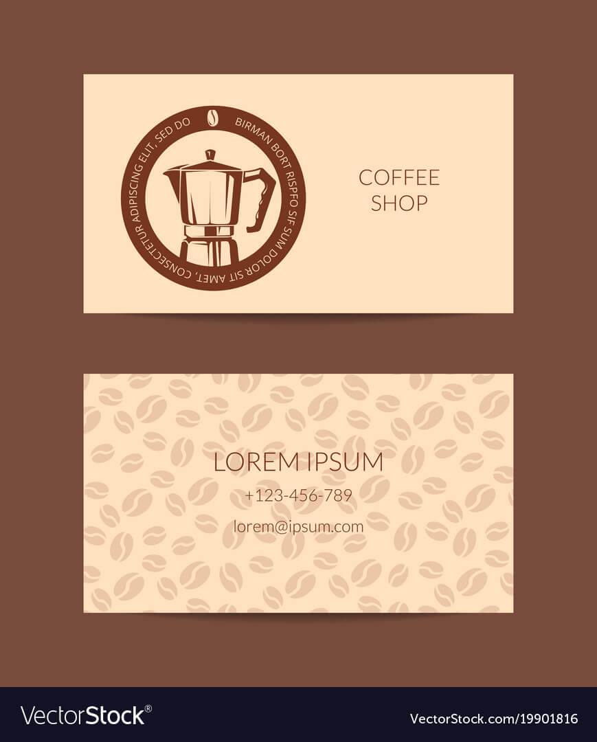 Coffee Shop Or Company Business Card regarding Coffee Business Card Template Free